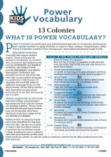 This free Vocabulary Packet for Kids Discover 13 Colonies is a systematic and individualized approach to vocabulary development.