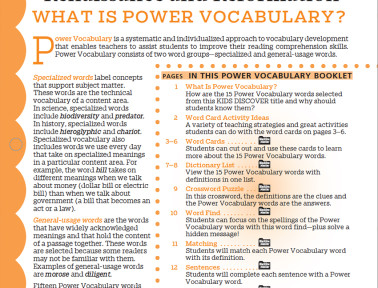 Power Vocabulary Archives - Kids Discover